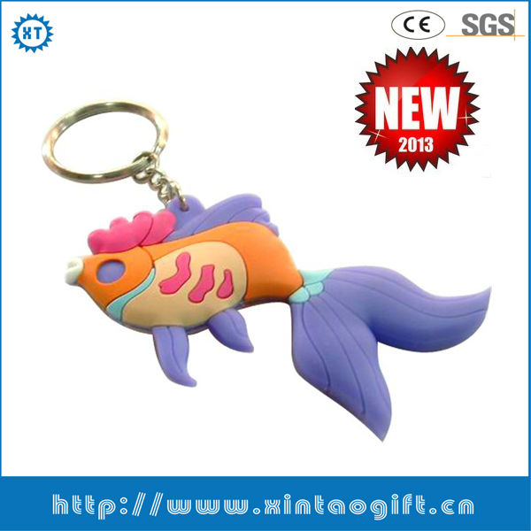 2013Best selling metal silicone keychains holders