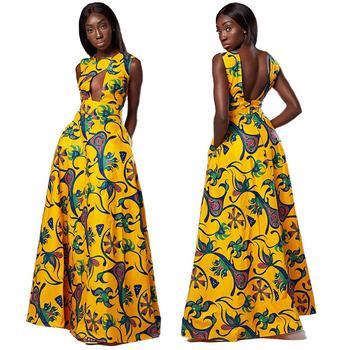 12c604a6af3 2018 D été Mode Africaine Vêtements O-cou Noir Dashiki Haut-Bas Robes