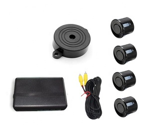 no display car beep buzzer warning parking assist sensor with 4 sensors for  connecting to car monitor and rearview camera