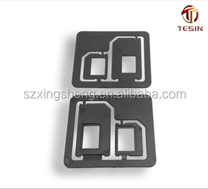 PC material new micro sim card adapter for iphone 4 4S