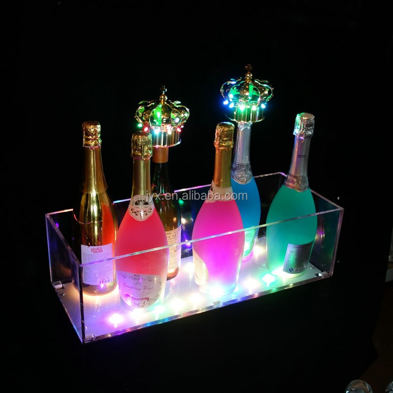 White acrylic display Champagne Wine Bottle Wine Bar