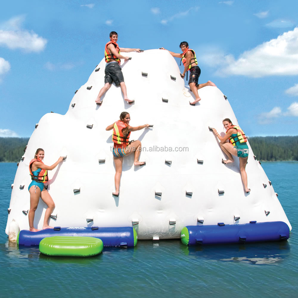 EN71 Standard 2016 inflatable iceberg float water toy for adults,inflatable climbing wall for water