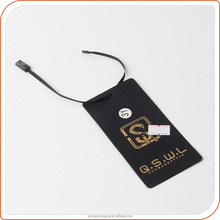 Price display fashion black paper hang tag for suit apparel