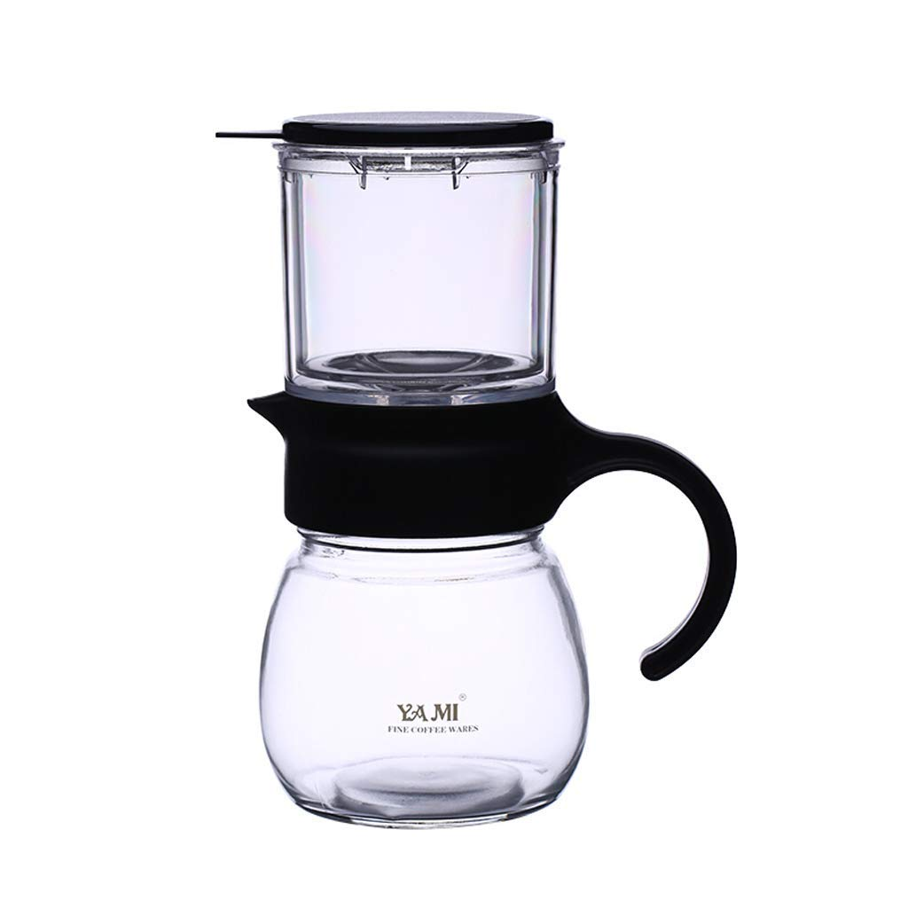 Hand-washing Coffee Pot American Coffee Filter Pot Household Manual Coffee Sharing Pot Flower Teapot Drip-type Heat-resistant Glass Pot 400cc (Size : 800CC)