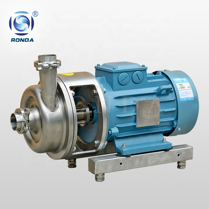 RDRM stainless steel food grade transfer pump open impeller sanitary cow milk pump
