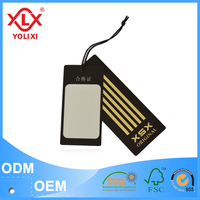 Custom cheap and professional garment hang cards and tags