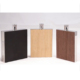 WOOD Grain Leather Novelty 2oz Stainless Steel Hip Flask