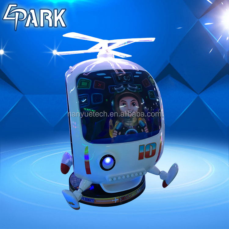 Indoor Amusement park coin operated 3d Extreme Flight kiddie rides game Machine for sale