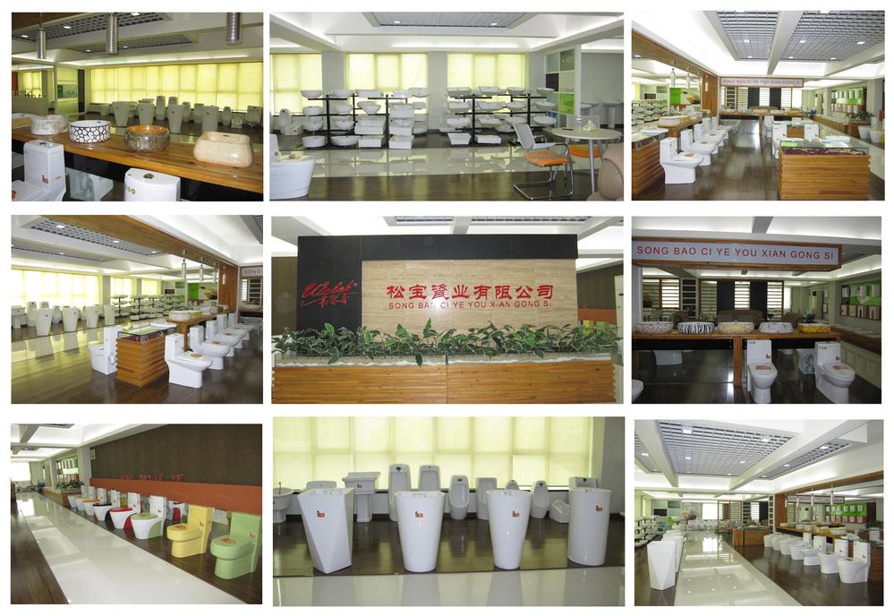 8007 Chinese White Bathroom Ceramics Sanitary Square Above Counter ...