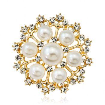 a4211528644 Magnetic Round Hijab Pin Headscarf Abaya Clasp Brooch Pin - Buy ...