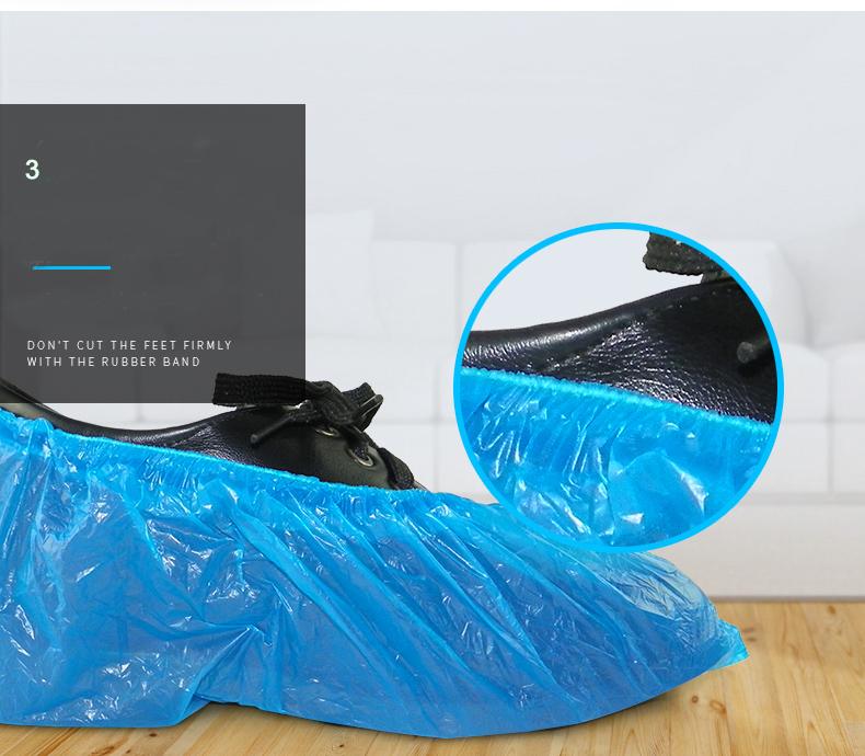 Tek kullanımlık Toz Yağmur Su Geçirmez Ayakkabı Kapağı