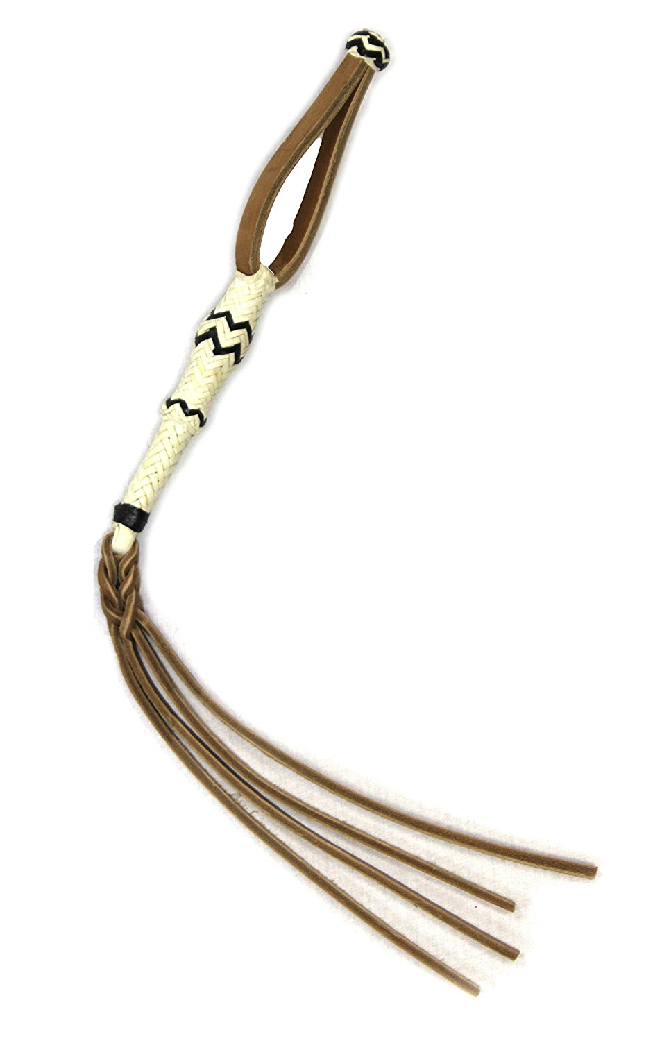 M-Royal Leather Horse Quirt Western Charro Braided Whip Popper Cuarta