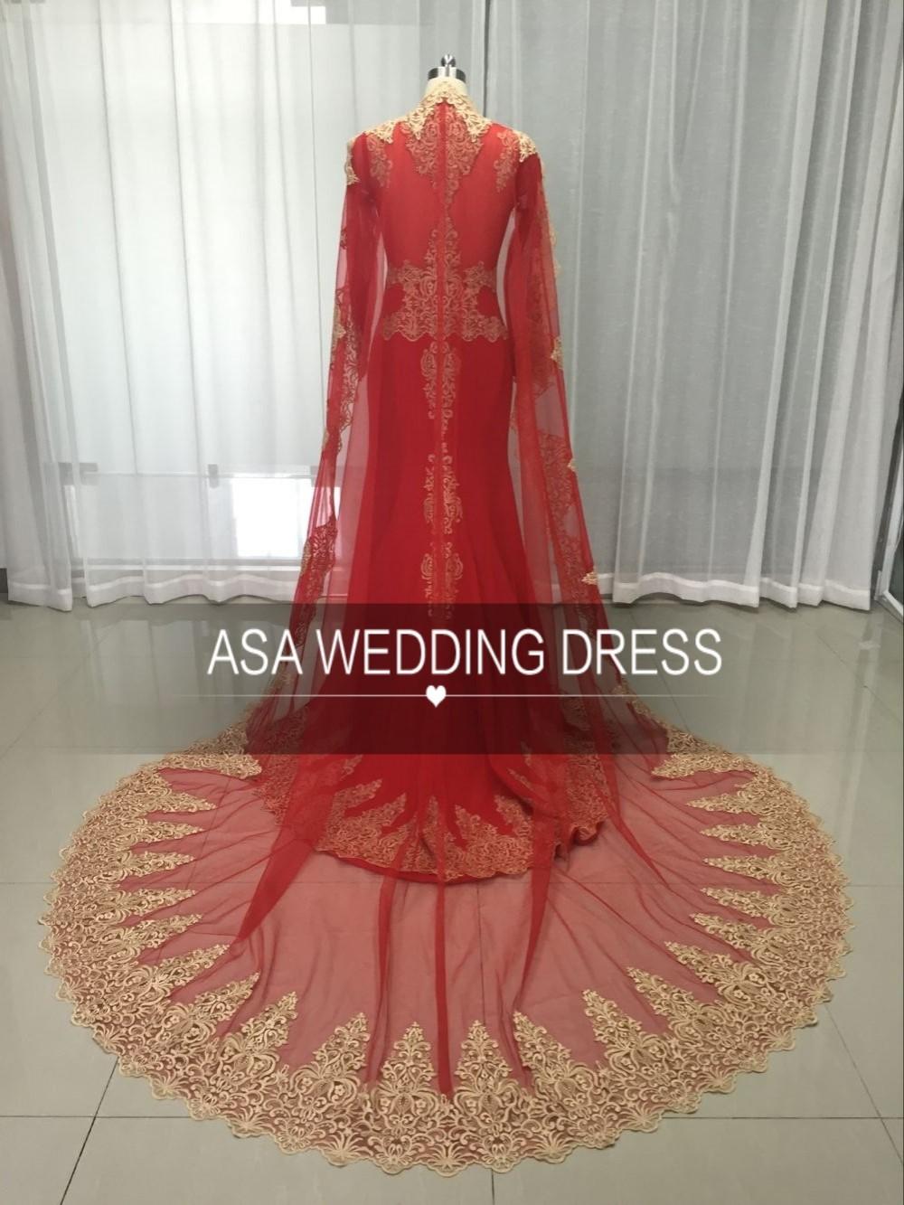 Ht19 Real Sample Langarm Dubai Kleid Arabisch Red Und Gold Mermaid Muster Von Spitze Abendkleid Mit Cape Buy Arabische Abendkleid Muster Von Spitze Abendkleid Spitze Abendkleid Product On Alibaba Com