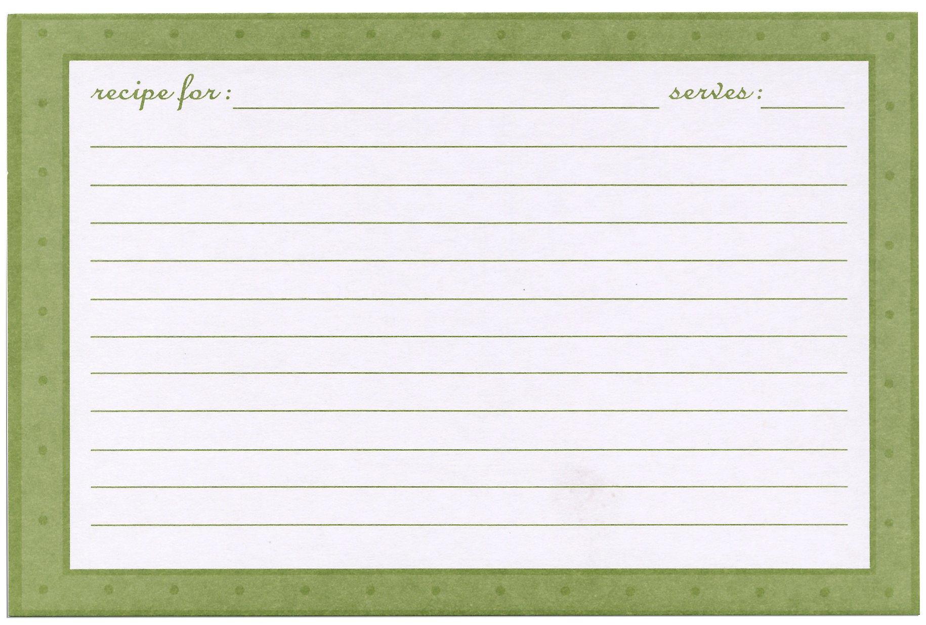 Meadowsweet Kitchens Recipe Card Set - European Garden