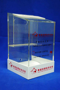 clear plastic/acrylic mail box with logo