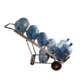 Logistics Collapsible Steel Bottled Water Hand Trolley For Bottle