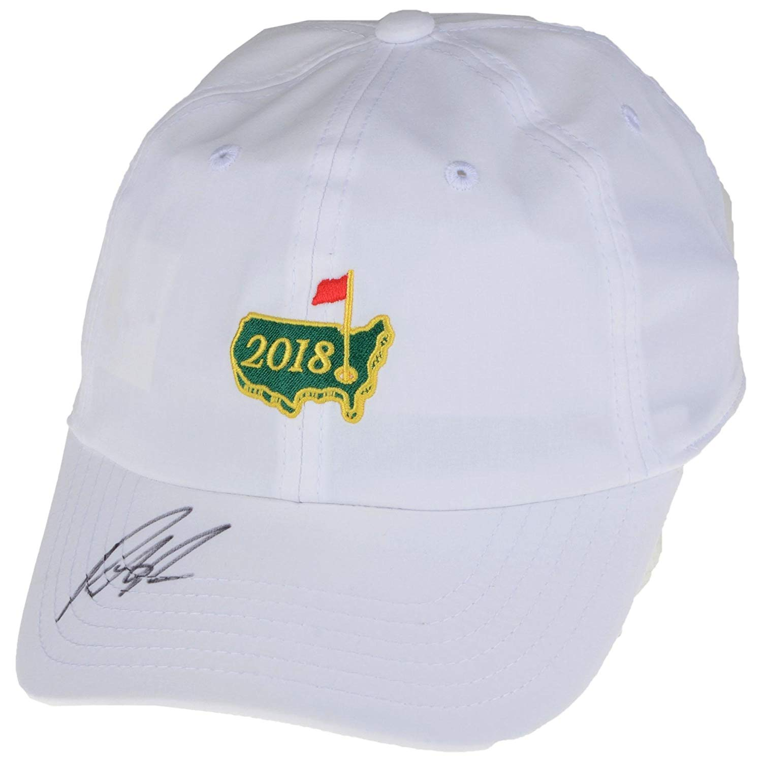 f69ddf69b092d6 Get Quotations · Patrick Reed Autographed 2018 Masters Golf Hat - JSA  Certified - Autographed Golf Hats and Visors