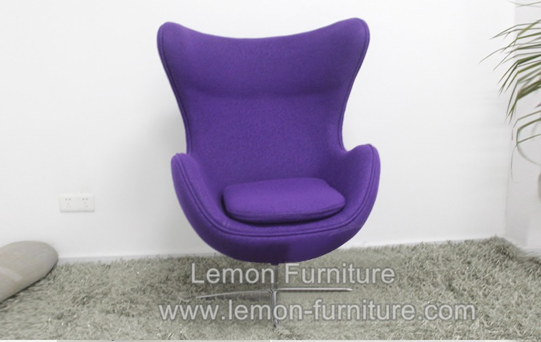 Cheap Best Selling Fiberglass Purple Egg Chair