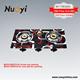 Best ce approved safety indoor 2 burner glass top gas stove hob covers