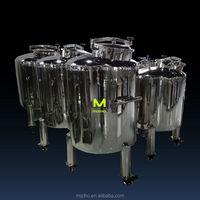 factory supply MZH-S Stainless steel liquid storage tank for oil, milk, wine, beverage, solvent etc