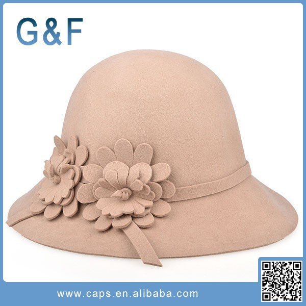 European Style Wool Felt Sauna Hat For Ladies