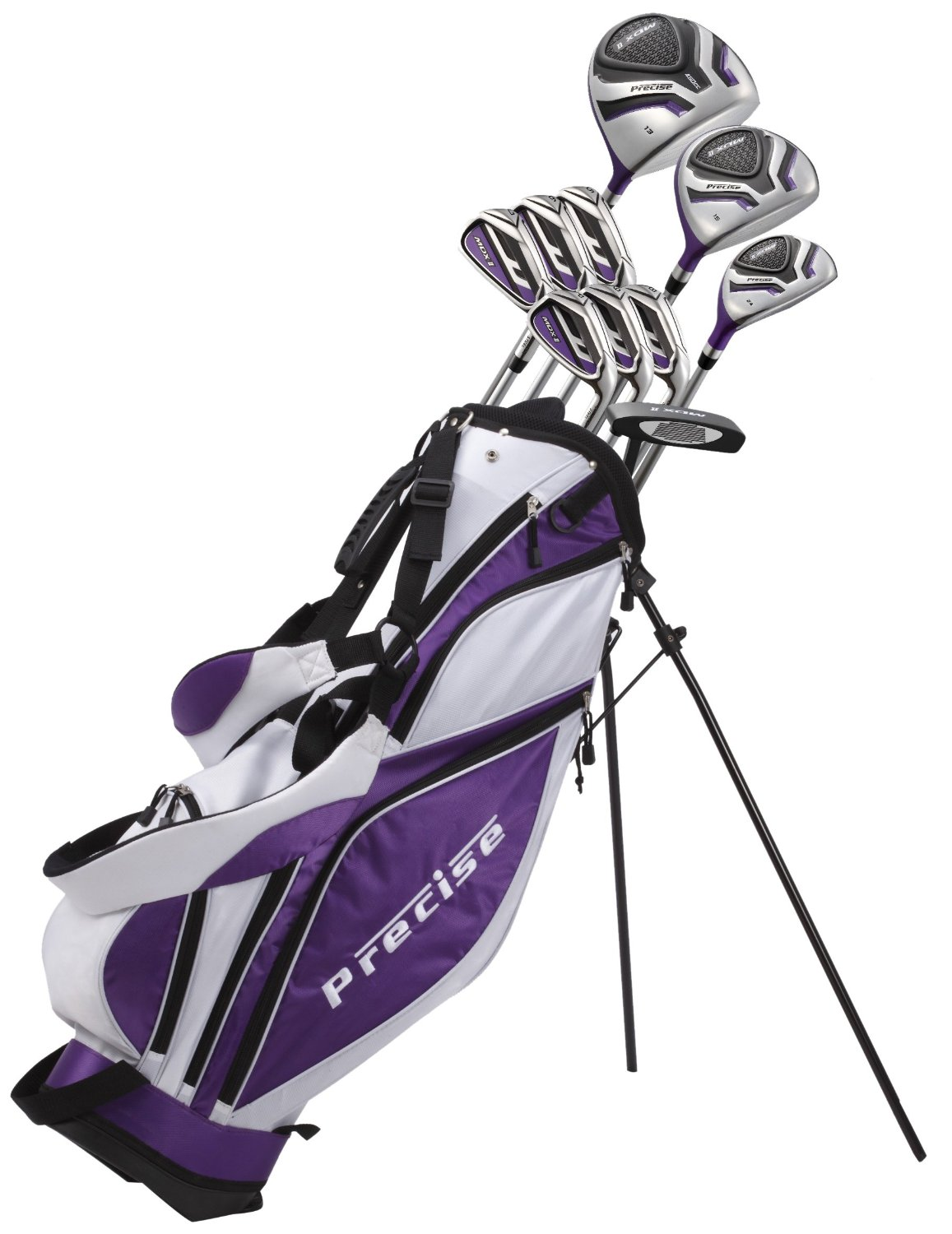 Precise Premium Women's Petite Complete Set, MDX II Ladies, Right Hand, Purple