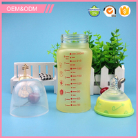 New 2016 Product Idea colour changing glass adult baby feeding bottle
