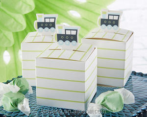 Precious Cargo Train Favor Box Baby Shower Gift Favor Boxes for Welcome New Baby Poems