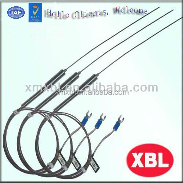 316ss K type sheath and flexible thermocouple probe with spring