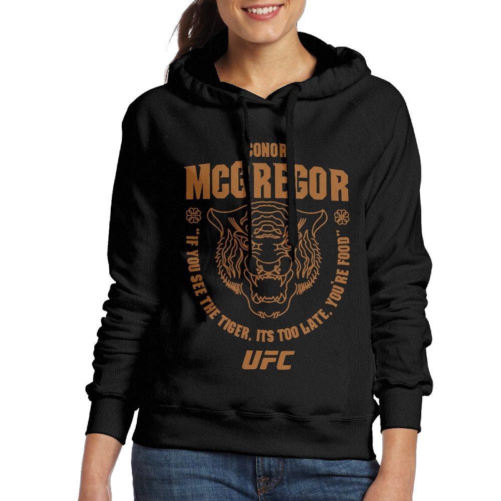 Women Conor McGregor UFC 202 Tiger Food Pullover Sweatshirt Hoodie