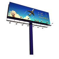 Highway double sided advertising billboard
