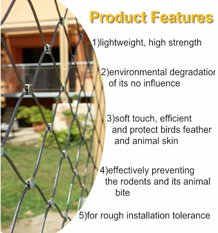 Hand-Weaving Stainless Steel Rope Mesh For Balustrades Safety, View ...