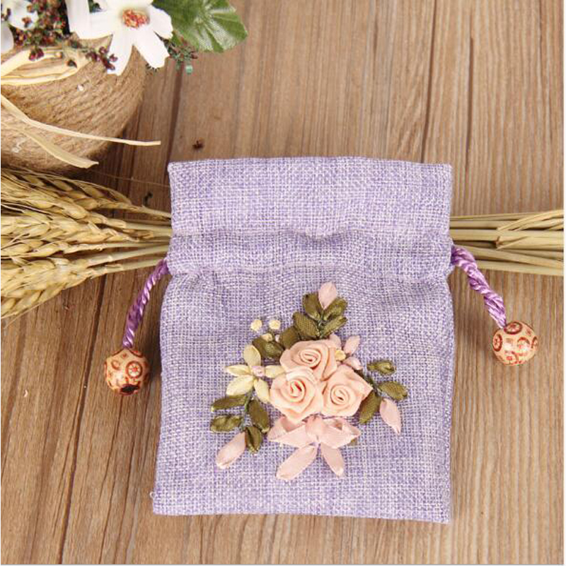 SD-3 White Rose silk ribbon for embroidery cross stitch kit