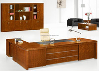 Modern Luxury Office desk, L Shaped Executive desk office table