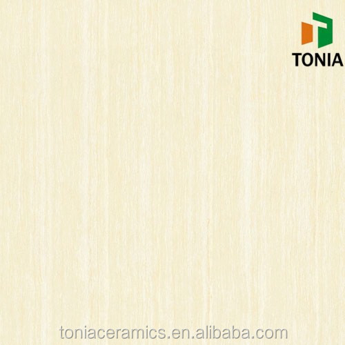 Ivory colour Line Stone Porcelain Polished tile flooring tiles