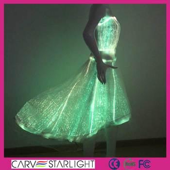 moda ropa de fibra Óptica led luminoso vestido de novia - buy alta