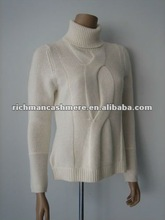 Women Hand Knit Cashmere Pullovers With Cable
