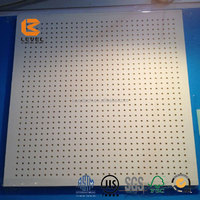 2016 New Decorative Glasswool Acoustic Ceiling Solutions Wall Panels Fiberglass Soundproofing Tiles