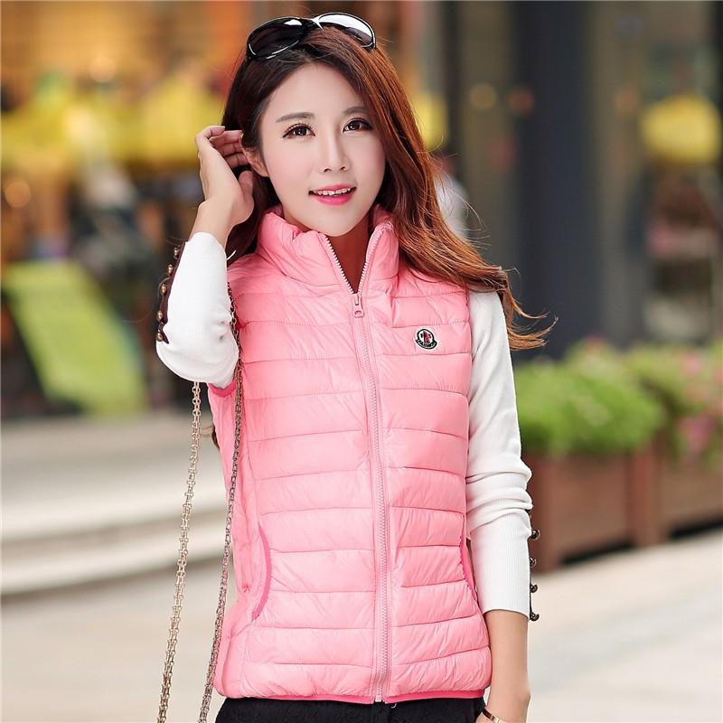 a613e7616e 2019 Wholesale Hot 2015 Cotton Down Vest Women Waistcoat Sleeveless ...