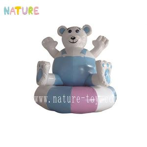 Hot sale children inflatable water games floating ,large-scale inflatable castle bear toys
