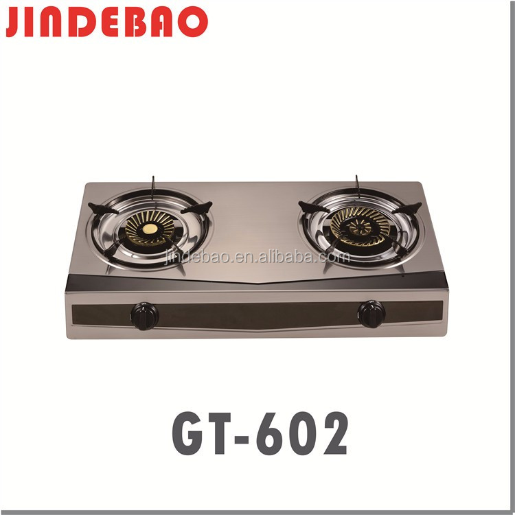 OEM 2 burner gas stove Stainless steel Gas Stove GT-602