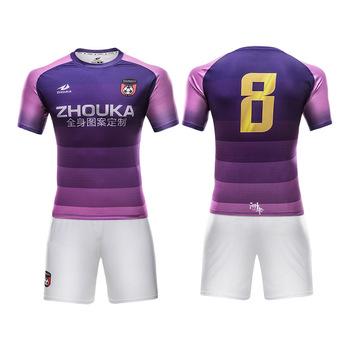 Professional design mens soccer uniforms kit quick dry breathable soccer  team shirt custom sublimation blank mesh 06bba8035