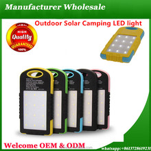 Free Sample Christmas Gift 8000mAh Waterproof Solar Charger Solar Power Bank With Camping LED Light Mobile Phone Charger
