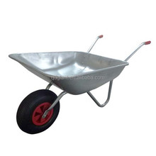 Zinc Plated Metal Tray Power Construction Wheel Barrow