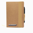 Factory Supply Custom Brown Kraft Paper cover Notebook with Recycle pen