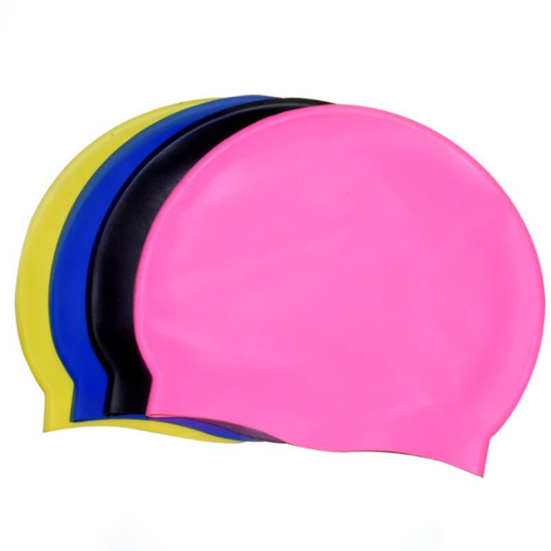 Di alta qualità di stampa personalizzata in silicone cuffia da nuoto con copertura dell'orecchio delle ragazze cappello di nuotata capelli lunghi protezioni di nuotata
