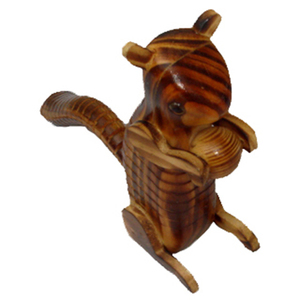 wooden kangaroo animal crafts indonesian wood art