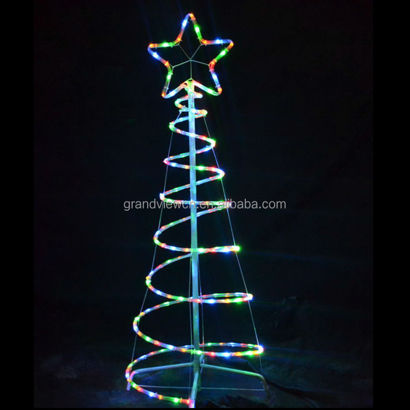 Led outdoor spiral rope light christmas tree for street decoration led outdoor spiral rope light christmas tree for street decoration and new year christmas decoration with aloadofball Gallery