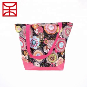 OEM wholesale handcrafted bohemian cotton hand bags / shoulder bag for women