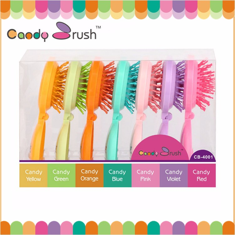 High Strength Factory Supply Unique Shaped Plastic Bristles Scalp Massage Comb